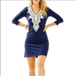 Lilly Pulitzer Clarkson Dress True Navy Blue